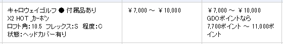 GDOのX2ホットドライバーの買取価格